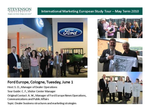 2010 Study Tour Visit to Ford Europe